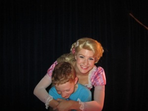 Never too old for a hug from a Disney Princess