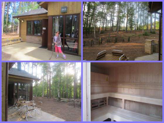 Outside of Lodge 443 at Centerparcs Woburn