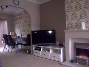Our newly decorated living room