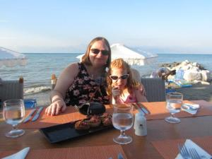 Enjoying the Italian Restaurant on the beach