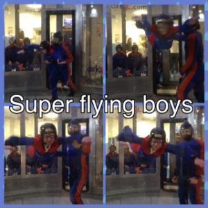 Indoor sky diving at Airkix