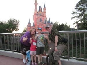 Our very first picture in front of the castle in 2011