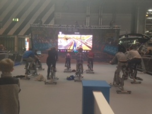 Interactive bikes at The Gadget Show Live