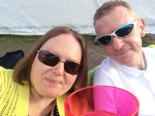 Enjoying the sunshine at Forest Live