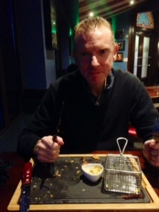 Husband met his match and polished off the new Warrior Burger